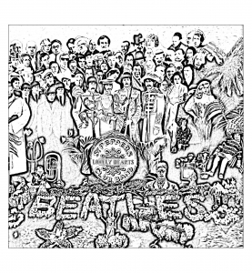 coloriage-the-beatles-sgt-peppers-lonely-hearts-club-band free to print