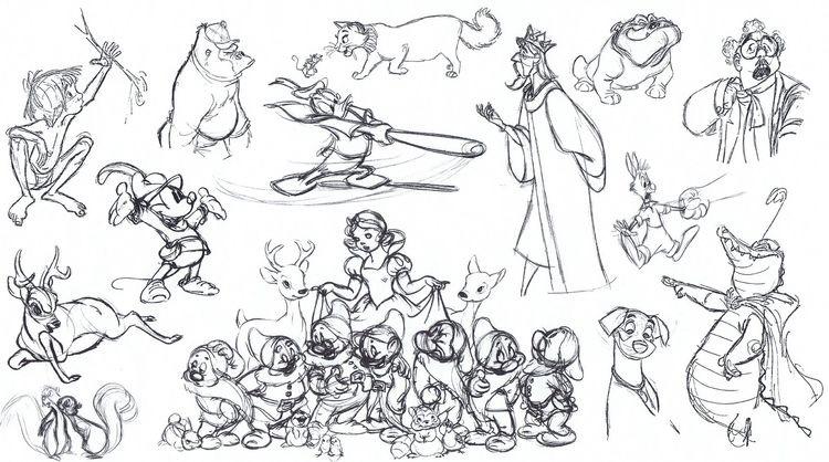Disney croquis divers personnages 2A partir de la galerie : Retour En Enfance