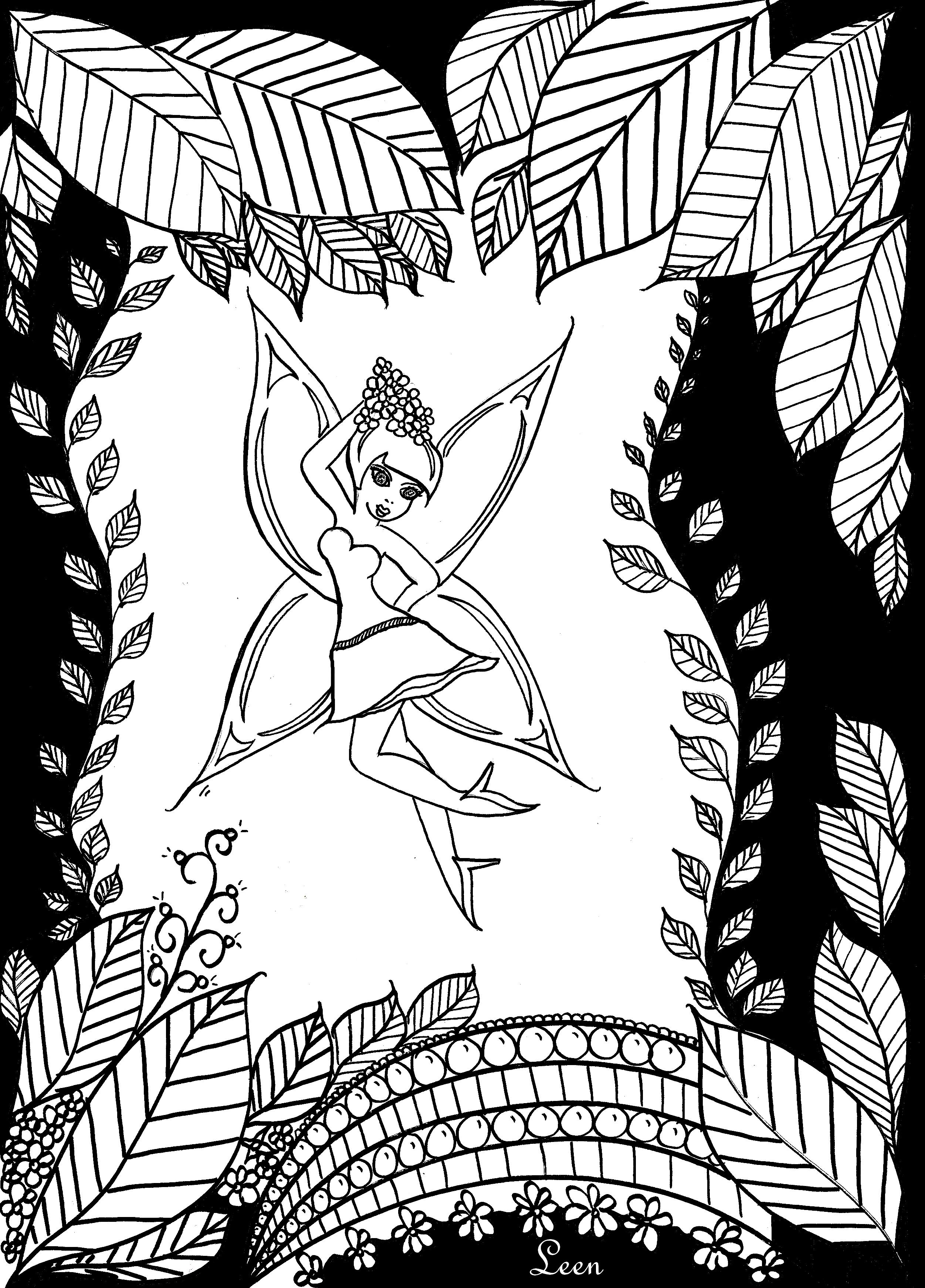 'La fée'A partir de la galerie : Retour En EnfanceArtiste : Leen Margot