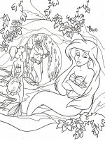 coloriage-ariel-la-petite-sirene free to print