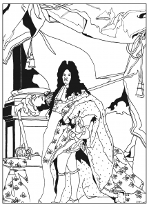 coloriage-adulte-louis-XIV free to print