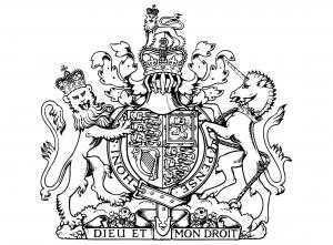 coloriage-armoiries-royales-royaume-uni-dieu_et_mon_droit free to print