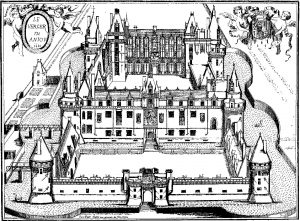coloriage-chateau-du-verger-gravure free to print