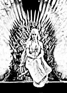coloriage-adulte-game-of-throne-daenerys_targarya free to print