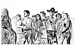 coloriage-adulte-the-walking-dead free to print