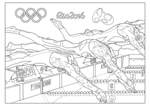 coloriage-rio-2016-jeux-olympiques-natation free to print