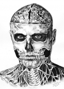 coloriage-rick-genest-dessin free to print