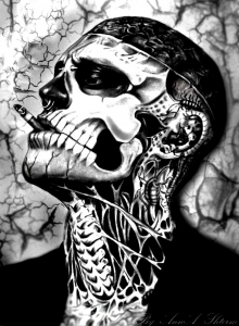 coloriage-rick-genest-fume free to print