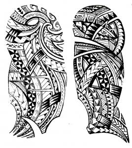coloriage-tatouage-maori free to print