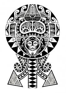 coloriage-tatouage-polynesien free to print