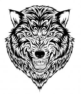 coloriage-tatouage-tigre free to print