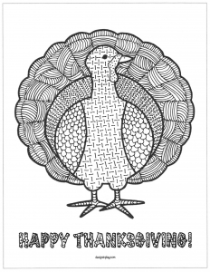 coloriage-dinde-de-thanksgiving-en-zentangle free to print