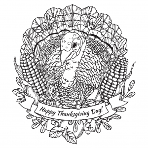 coloriage-joyeuse-thanksgiving-dinde-par-frauleinfreya free to print