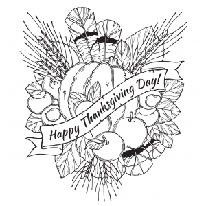coloriage-joyeuse-thanksgiving free to print