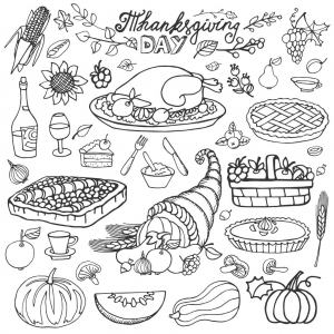 coloriage-thanksgiving-corne-d-abondance-et-dinde-par-tatiana-kostysheva free to print