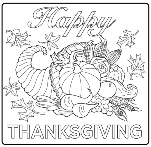 coloriage-thanksgiving-corne-d-abondance free to print