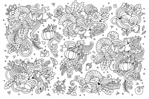 coloriage-thanksgiving-doodle-3-par-Olga-Kostenko free to print