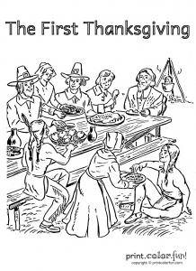 coloring-page-premiere-fete-de-thanksgiving free to print