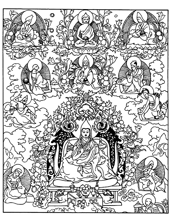 Image de divinités (Bouddhisme) à imprimer et colorierA partir de la galerie : Tibet