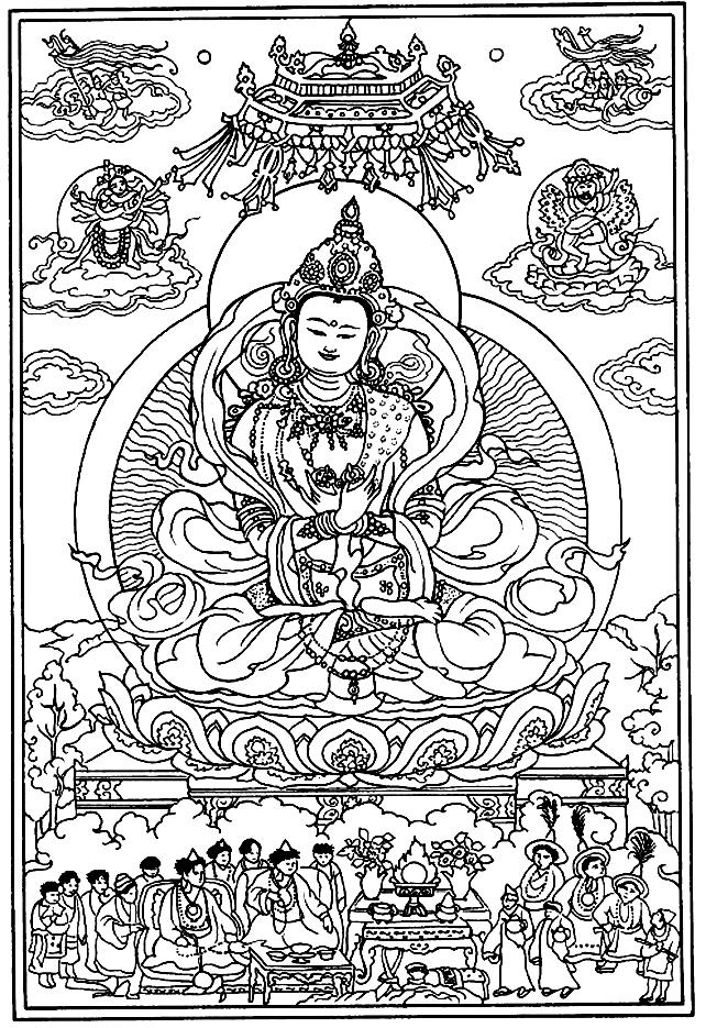 Représentation religieuse tibétaine, donnez lui vie avec vos couleurs !A partir de la galerie : Tibet