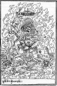 coloriage-palden-lhamo-tibetain free to print