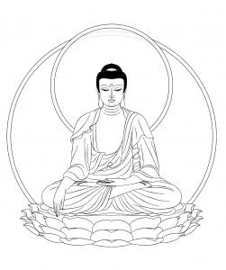 coloriage-roi-bouddha-adulte free to print