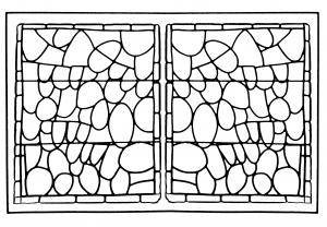 coloriage-adulte-vitrail-chapelle-prieure-de-bethleem-nimes-version-2 free to print