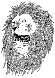 coloriage-adulte-indien-sabrina free to print
