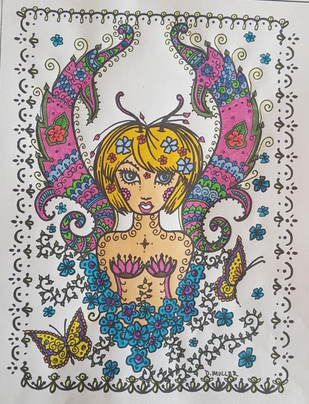 Creation par mimi17, coloriage de la galerie Anti-stress / Zen