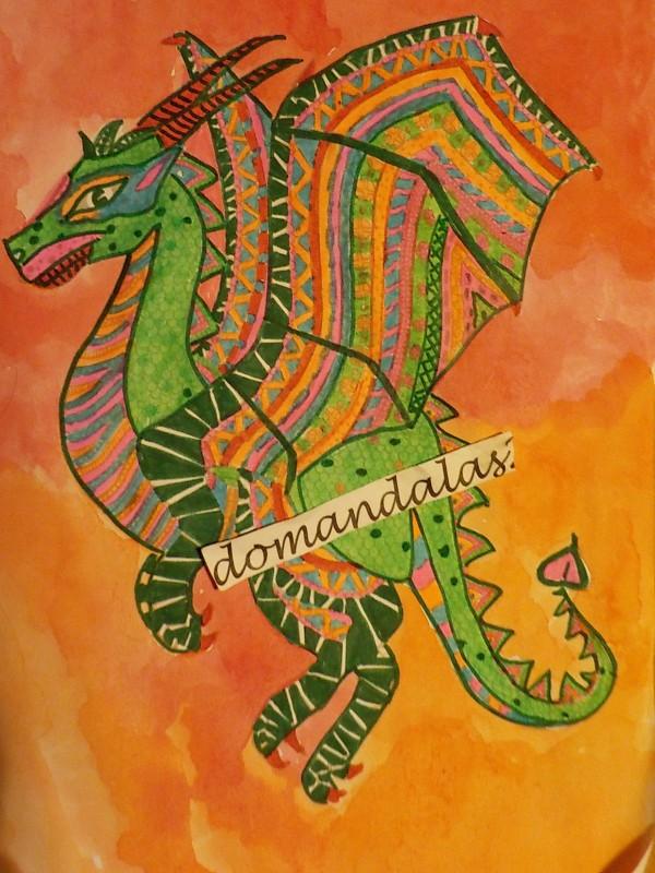 Creation par domandalas3, coloriage de la galerie Zentangle