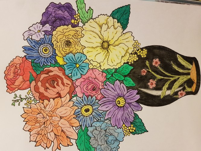 coloring-flowers